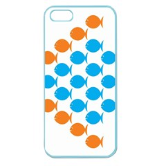 Fish Arrow Orange Blue Apple Seamless Iphone 5 Case (color) by Alisyart