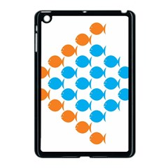 Fish Arrow Orange Blue Apple Ipad Mini Case (black) by Alisyart