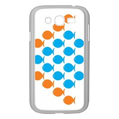 Fish Arrow Orange Blue Samsung Galaxy Grand Duos I9082 Case (white) by Alisyart