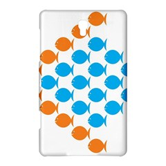 Fish Arrow Orange Blue Samsung Galaxy Tab S (8 4 ) Hardshell Case  by Alisyart