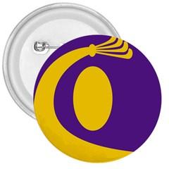 Flag Purple Yellow Circle 3  Buttons by Alisyart