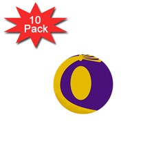Flag Purple Yellow Circle 1  Mini Buttons (10 Pack)  by Alisyart