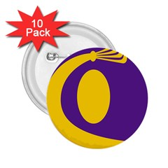 Flag Purple Yellow Circle 2 25  Buttons (10 Pack)