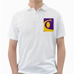 Flag Purple Yellow Circle Golf Shirts by Alisyart