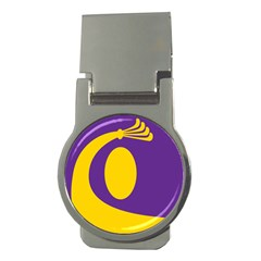 Flag Purple Yellow Circle Money Clips (round)  by Alisyart