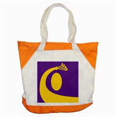 Flag Purple Yellow Circle Accent Tote Bag by Alisyart