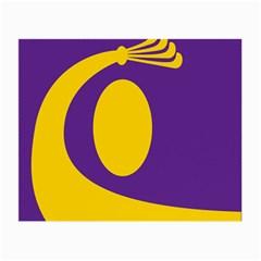 Flag Purple Yellow Circle Small Glasses Cloth (2 Side) by Alisyart