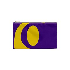 Flag Purple Yellow Circle Cosmetic Bag (small)  by Alisyart