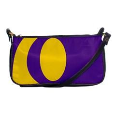 Flag Purple Yellow Circle Shoulder Clutch Bags by Alisyart