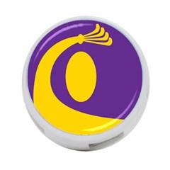 Flag Purple Yellow Circle 4 Port Usb Hub (two Sides)  by Alisyart