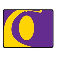 Flag Purple Yellow Circle Fleece Blanket (small) by Alisyart