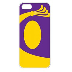 Flag Purple Yellow Circle Apple Iphone 5 Seamless Case (white)