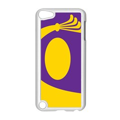 Flag Purple Yellow Circle Apple Ipod Touch 5 Case (white) by Alisyart