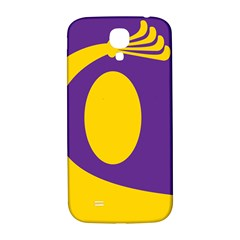 Flag Purple Yellow Circle Samsung Galaxy S4 I9500/i9505  Hardshell Back Case by Alisyart
