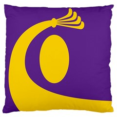 Flag Purple Yellow Circle Large Flano Cushion Case (one Side) by Alisyart