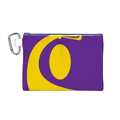Flag Purple Yellow Circle Canvas Cosmetic Bag (m) by Alisyart