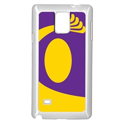 Flag Purple Yellow Circle Samsung Galaxy Note 4 Case (white) by Alisyart