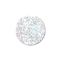 Connect Dots Color Rainbow Blue Red Circle Line Golf Ball Marker (10 Pack) by Alisyart