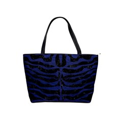 Skin2 Black Marble & Blue Leather Classic Shoulder Handbag by trendistuff