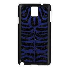 Skin2 Black Marble & Blue Leather Samsung Galaxy Note 3 N9005 Case (black) by trendistuff