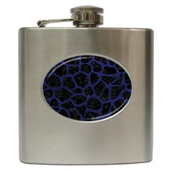 Skin1 Black Marble & Blue Leather (r) Hip Flask (6 Oz) by trendistuff