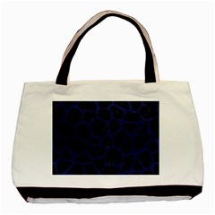 Skin1 Black Marble & Blue Leather (r) Basic Tote Bag by trendistuff