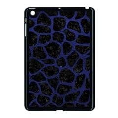 Skin1 Black Marble & Blue Leather (r) Apple Ipad Mini Case (black) by trendistuff