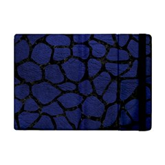 Skin1 Black Marble & Blue Leather Apple Ipad Mini 2 Flip Case by trendistuff