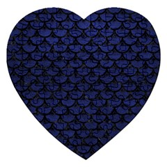 Scales3 Black Marble & Blue Leather (r) Jigsaw Puzzle (heart) by trendistuff