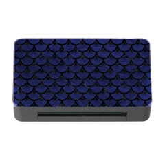 Scales3 Black Marble & Blue Leather (r) Memory Card Reader With Cf by trendistuff