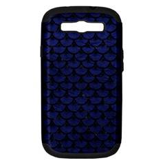 Scales3 Black Marble & Blue Leather (r) Samsung Galaxy S Iii Hardshell Case (pc+silicone) by trendistuff
