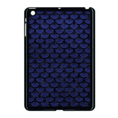 Scales3 Black Marble & Blue Leather (r) Apple Ipad Mini Case (black) by trendistuff