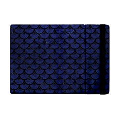 Scales3 Black Marble & Blue Leather (r) Apple Ipad Mini 2 Flip Case by trendistuff
