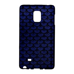 Scales3 Black Marble & Blue Leather (r) Samsung Galaxy Note Edge Hardshell Case by trendistuff