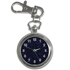 Scales3 Black Marble & Blue Leather Key Chain Watch by trendistuff