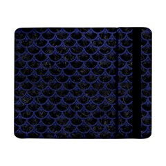 Scales3 Black Marble & Blue Leather Samsung Galaxy Tab Pro 8 4  Flip Case by trendistuff