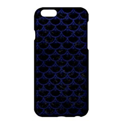 Scales3 Black Marble & Blue Leather Apple Iphone 6 Plus/6s Plus Hardshell Case by trendistuff