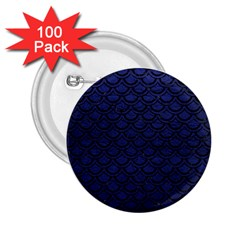 Scales2 Black Marble & Blue Leather (r) 2 25  Button (100 Pack) by trendistuff