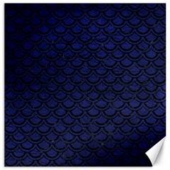 Scales2 Black Marble & Blue Leather (r) Canvas 20  X 20  by trendistuff