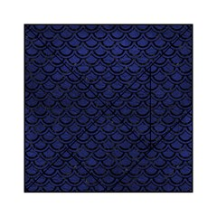Scales2 Black Marble & Blue Leather (r) Acrylic Tangram Puzzle (6  X 6 ) by trendistuff