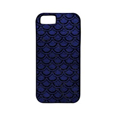Scales2 Black Marble & Blue Leather (r) Apple Iphone 5 Classic Hardshell Case (pc+silicone) by trendistuff