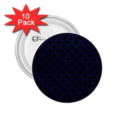 Scales2 Black Marble & Blue Leather 2 25  Button (10 Pack) by trendistuff