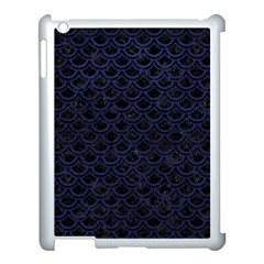 Scales2 Black Marble & Blue Leather Apple Ipad 3/4 Case (white) by trendistuff