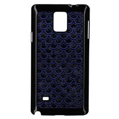 SCA2 BK-MRBL BL-LTHR Samsung Galaxy Note 4 Case (Black)