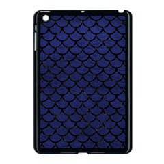 Scales1 Black Marble & Blue Leather (r) Apple Ipad Mini Case (black) by trendistuff