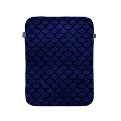 Scales1 Black Marble & Blue Leather (r) Apple Ipad 2/3/4 Protective Soft Case by trendistuff