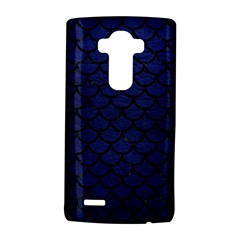 Scales1 Black Marble & Blue Leather (r) Lg G4 Hardshell Case by trendistuff