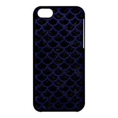 Scales1 Black Marble & Blue Leather Apple Iphone 5c Hardshell Case by trendistuff