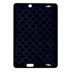 Scales1 Black Marble & Blue Leather Amazon Kindle Fire Hd (2013) Hardshell Case by trendistuff