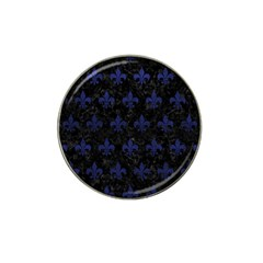 Royal1 Black Marble & Blue Leather (r) Hat Clip Ball Marker (4 Pack) by trendistuff